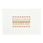 Gold & Red Christmas Sampler Card