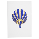 Seasons Greetings Blue Balloon Card