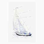 Seasons Greetings Sailboat Card