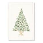 Stars & Ribbon Tree Card
