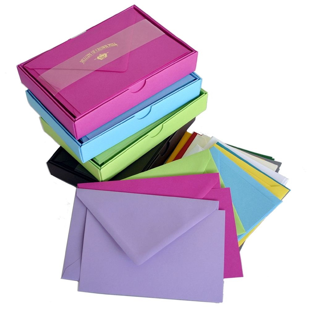 Color Vellum Large Card Box