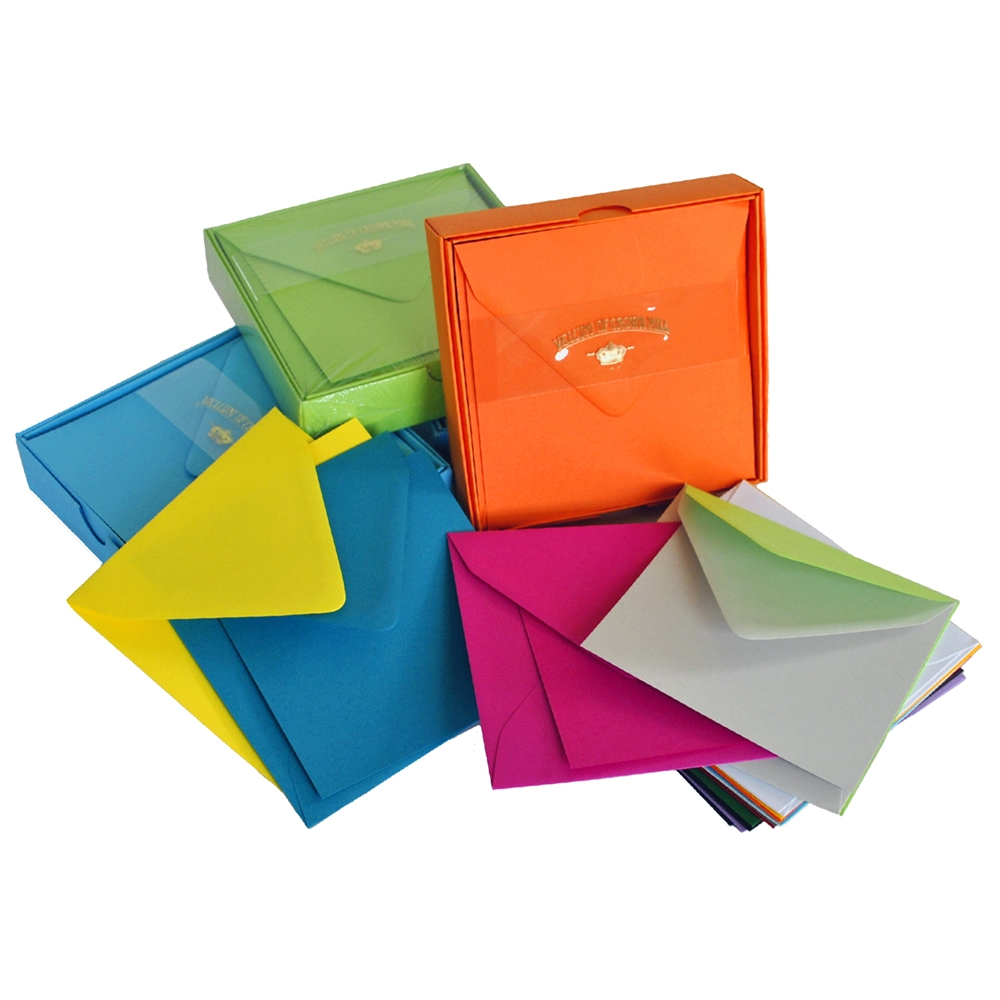 Color Vellum Square Card Box