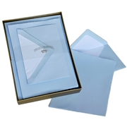Classic Deckled A5 Correspondence Box Original Crown Mill, Gold, Boxed, Stationery, deckled, classic. laid surface