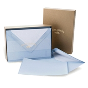 Classic Deckled Note Card Box Original Crown Mill, Gold, Boxed, Stationery, deckled, classic. laid surface, flat cards