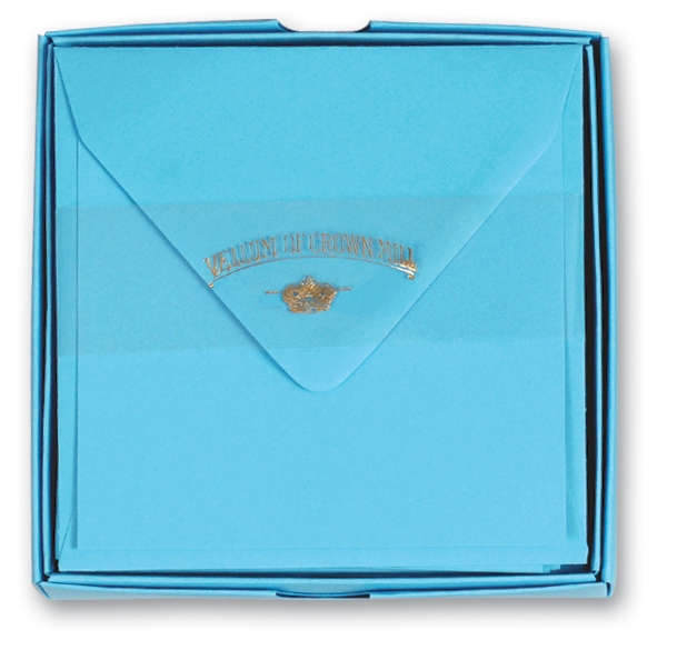 Color Vellum Square Card Box - OCM625