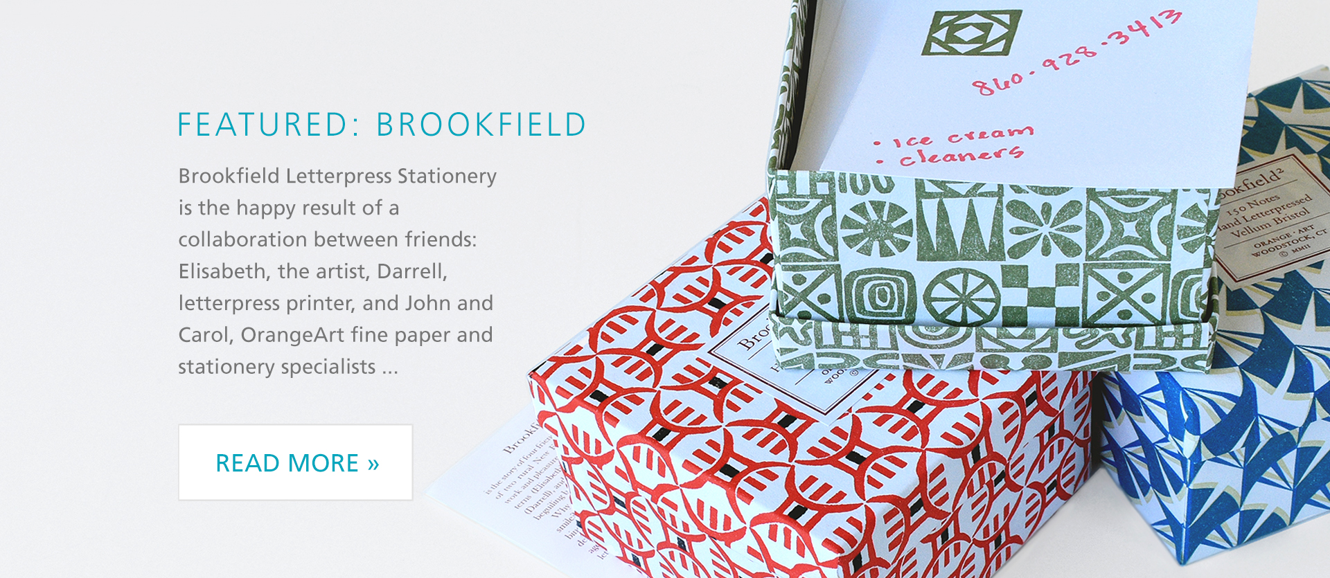 Featured Brand Brookfield Letterpress Stationery!