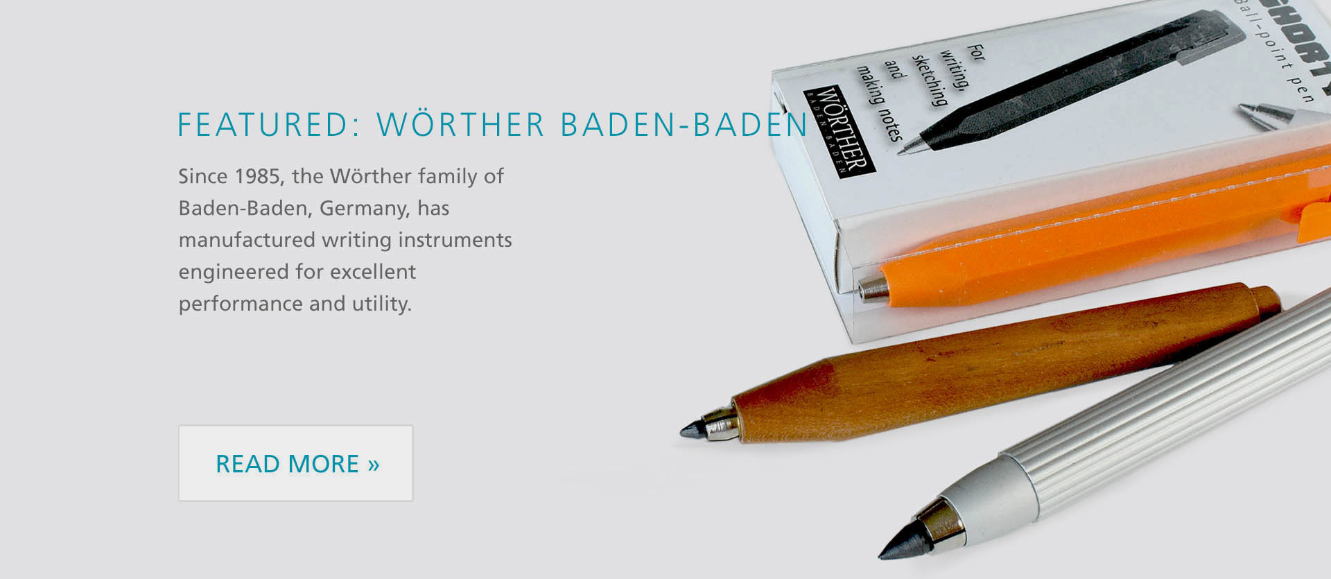 Featured brand Wörther Baden-Baden, Pencils, Pens!