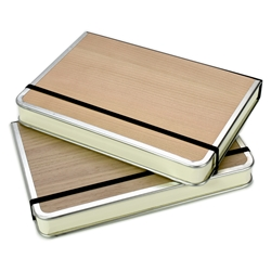 Purist Wood Metal Edge Book