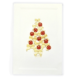 Gold/Red Ribbon Tree