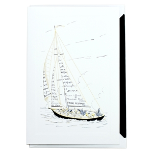 Season Greetings Sailboat (white)