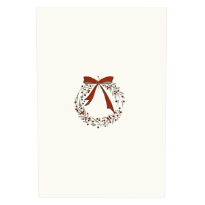 Red Berry Wreath Card