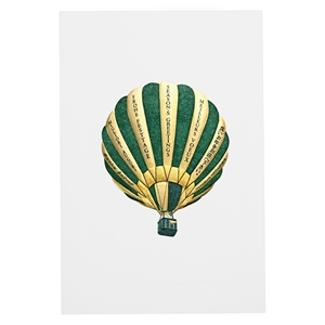 Seasons Greeting Green Balloon Card