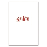 Red Snowman Silhouette Card