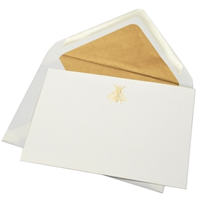 Gold Icon Engraved Blank Cards