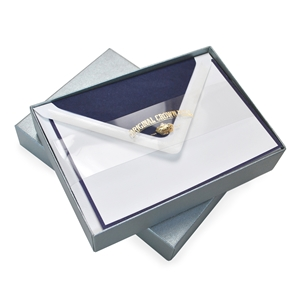 """Bi-Color"" Note Card Box  Original Crown Mill, Bi-Color, OCM, Note Cards, Cards, border"