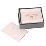 Classic Plain Edge Small Card Box Original Crown Mill, Gold, Boxed, Stationery, deckled, classic. laid surface, business cards