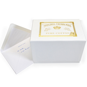 Pure Cotton Note Card Presentation Box Original Crown Mill, Cotton, Presentation Boxes, OCM, note cards