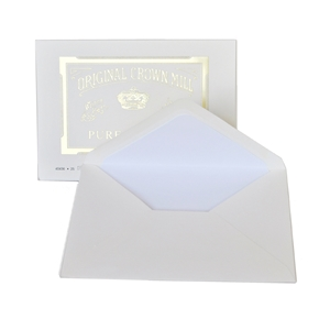 Pure Cotton Envelopes (for A5 Pad or Note Cards) Original Crown Mill, Cotton, envelopes, OCM