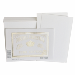 Pure Cotton Note Cards Original Crown Mill, Cotton, flat cards, OCM